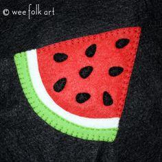 Watermelon Applique Block | Wee Folk Art
