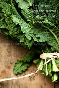 Mix kale powder into everything and get more green in your diet!  gourmandeinthekitchen.com