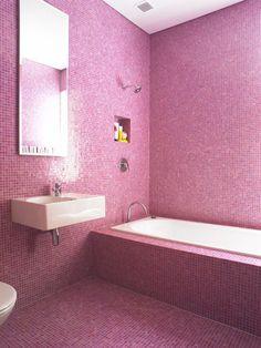 All tile bathroom.