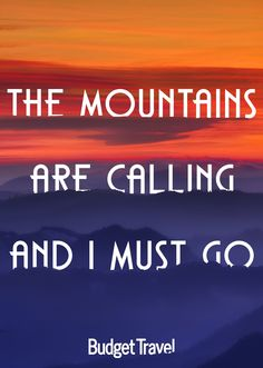 """""""The Mountains are calling and I must go"""" Check out Budget Travel's Fall Foliage slideshow!"""
