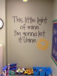 Perfect Sunday School room idea!