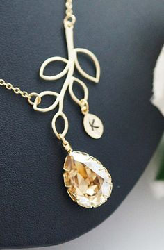 Beautiful initial necklace