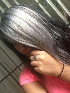 silver hair :)