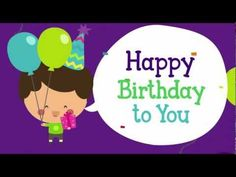 Happy Birthday to You song video for toddlers, preschoolers, kindergarten children and ESL learners.