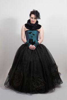 gothic wedding ballgown skirt. £180 http://www.emeraldangel.co.uk/gothic-wedding-skirt.html