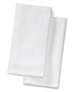 Organic Waffle-Weave Towel, Set of 2, White from Williams Sonoma $19.95