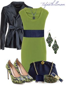"""Green & Navy"" by tufootballmom on Polyvore"