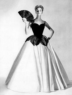 Floor-length gown by Charles James, 1951.