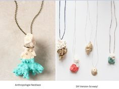 This is an adorable Anthropologie inspired knockoff. DIY necklaces that kids can make are fun, especially when they're this trendy and inexpensive.