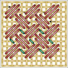Criss Cross Hungarian Stitch