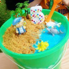 beach bucket birthday cake tute