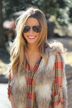 Plaid + Fur