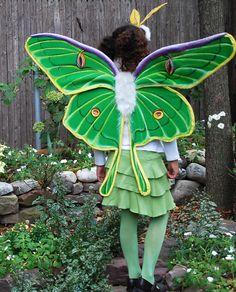 Luna Moth Costume (no sew) http://kids.baristanet.com/2010/10/ask-holly/