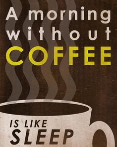 A morning without coffee is like sleep!  Come to Bagels and Bites Cafe in Brighton, MI for all of your bagel and coffee needs! Feel free to call (810) 220-2333 or visit our website www.bagelsandbites.com for more information!