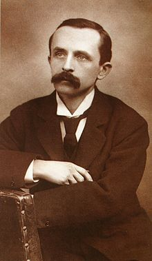 Sir James Matthew Barrie, Scottish author and dramatist, best remembered today as the creator of Peter Pan.