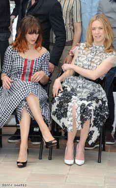 Actress Elodie Navarre and Actress Lea Drucker