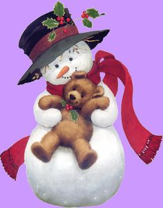bear, ruth morehead, snowmen, clipart, clip art, snowman, snowpeopl, christma, frosti
