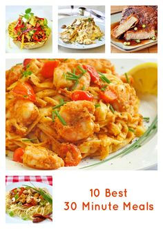 Ten of Our Best 30 Minute Meals! - There are dozens more of our original recipes on RockRecipes.com from the past 7 years but these are some fan favourites!