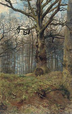 John Collier - The Spring Wood #tree #art