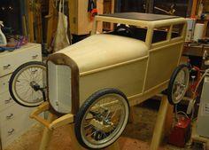 Beautifully made all wood SoapBox Car