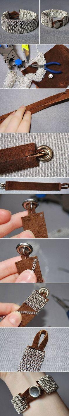 DIY Easy Chain Bracelet diy crafts craft ideas easy crafts diy ideas crafty easy diy diy jewelry diy bracelet craft bracelet jewelry diy
