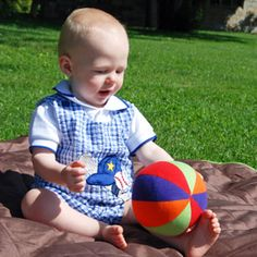 Colorful Organic Baby Ball - Pure Play Kids