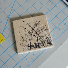 tutorial on how to make stamped tile coasters #birds