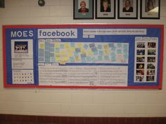 Interactive Facebook Bulletin Board- Path room.