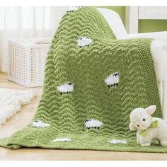 All Knitted baby blanket Lace