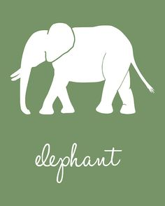 Decor: Elephant Nursery art from Etsy