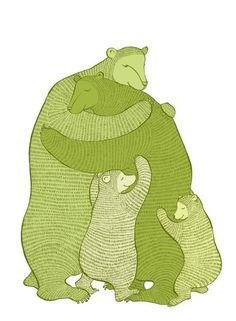 attachment parenting, wall art, nurseries, famili, bears