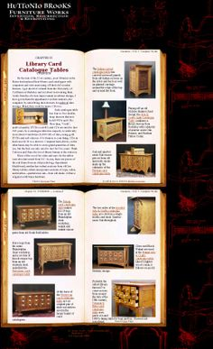 "Click through to see these gloriously reinvented card catalogs. While I'm pretty crazy about all of these (and would cheerfully house any of them!), I ADORE that ""Arts & Crafts Light Catalogue Table."" [Screenshot 20140407 via Pinstamatic]"