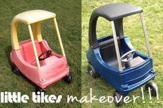 little tikes classic car makeover