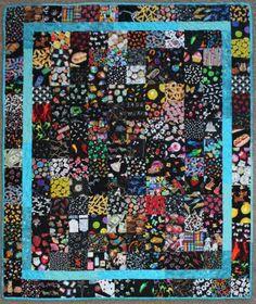 All black I-Spy quilt, beautiful!