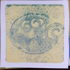 """The Gelli Plate Rocks!""  Step by Step tutorial on Barbara Gray's Blog: Ghost print taken off the Gelli plate onto paper."