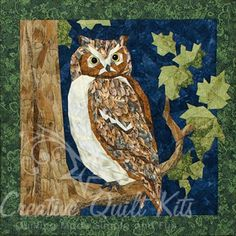 Great+Horned+Owl+Wall+Hanging+Pattern+by+England+Design+Studios+at+Creative+Quilt+Kits