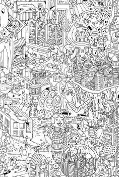 city scape colouring 2