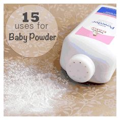 15 amazing uses for baby powder!