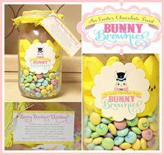 Bunny Brownies in a Jar.