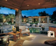 "This courtyard and pool area has ""parties"" written all over it."