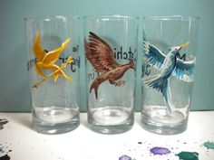 the hunger, game trilog, hunger games trilogy, drink glass, hand fans, hunger games series, book, favor, holiday gifts