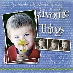 Flowers are one of my favorite things, digital layout by 7evans