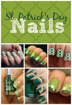 St. Patrick's Day Nail Art | This Girls Life Blog