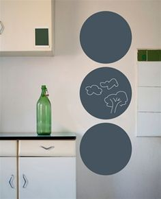 Love these handy chalkboard circles for just about anywhere in a home!