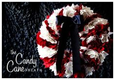Candy Cane Wreath Tutorial by WhipperBerry Studios for our friends at Country Woman