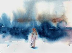 """original watercolor """"grace"""""""