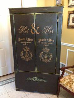 HIs & His! paint furnitur, paint object, paint wardrob, armoires