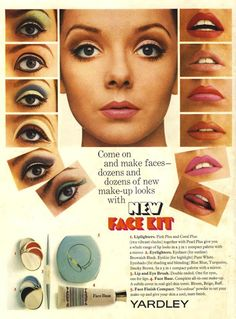 Yardley advertisement, 1967; oh, I so remember Yardley Make up... it was one of my favorites and I'd love to see it again.....