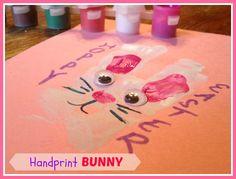 Easter Craft – Bunny Handprint