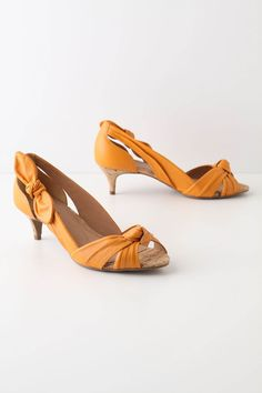 Knotted Kitten Heels from Anthropologie